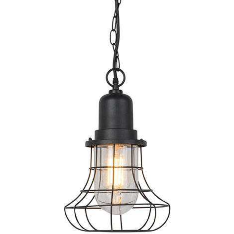 Rural outdoor hanging lamp black - Moreno