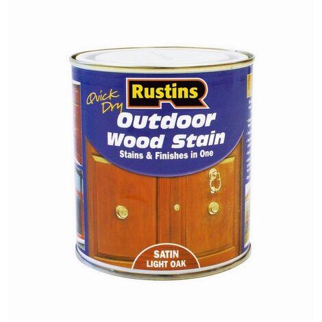 RUSESMO500 - Rustins Outdoor Wood Stain 500ml Satin Medium Oak