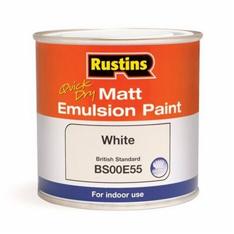 "main image of ""RUSMEMLW500 - Rustins Matt Emulsion White 500ml"""