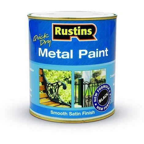 RUSMPBK500 - Rustins Metal Paint Black Satin 500ml
