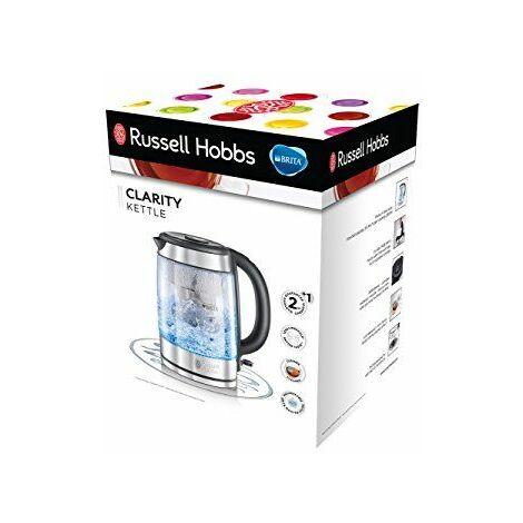 Russell Hobbs 20760-57 Bouilloire Clarity Acier chromé 1 Litre, 2200