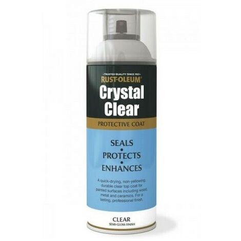 Rust-Oleum AE0040002E8 Crystal Clear Semi Gloss Protective Top Coat 400ml