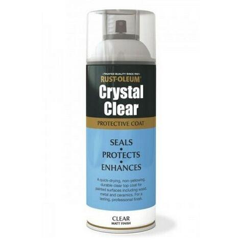 Rust-Oleum AE0040003E8 Crystal Clear Matt Protective Top Coat 400ml