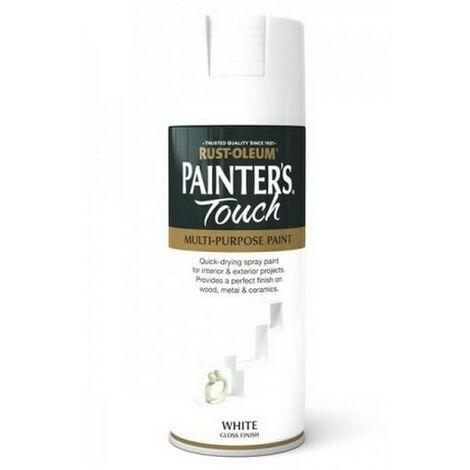 Rust-Oleum AE0040004E8 Painters Touch White Gloss Multi Purpose Spray Paint 400ml