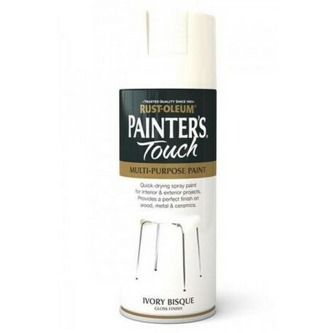 Rust-Oleum AE0040008E8 Painters Touch Ivory Bisque Gloss Multi Purpose Spray Paint 400ml