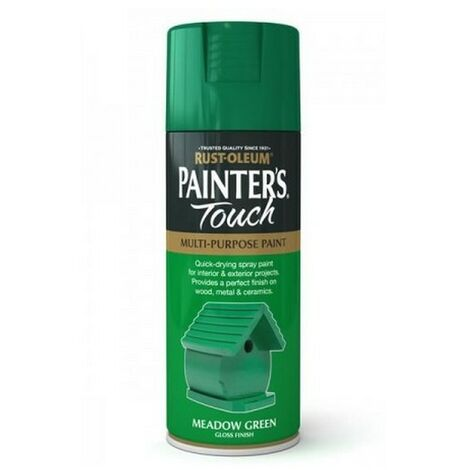 Rust-Oleum AE0040013E8 Painters Touch Meadow Green Gloss Multi Purpose Spray Paint 400ml