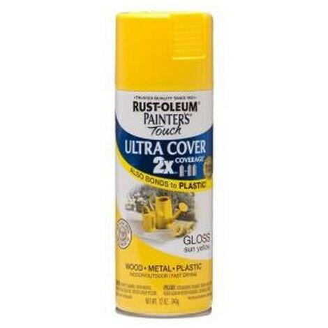 Rust-Oleum AE0040014E8 Painters Touch Sun Yellow Gloss Multi Purpose Spray Paint 400ml