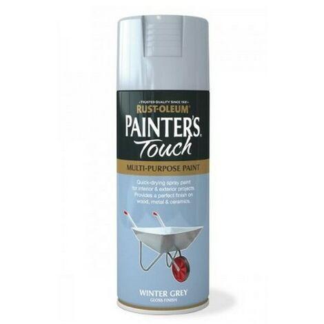 Rust-Oleum AE0040017E8 Painters Touch Winter Grey Gloss Multi Purpose Spray Paint 400ml