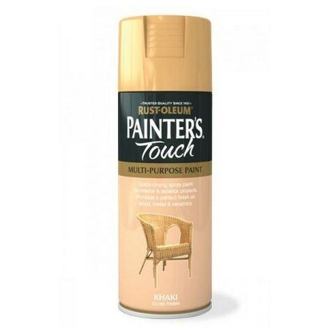 Rust-Oleum AE0040023E8 Painters Touch Khaki Gloss Multi Purpose Spray Paint 400ml