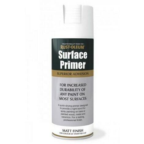 Rust-Oleum AE0040028E8 Surface Primer Matt White Spray Paint 400ml
