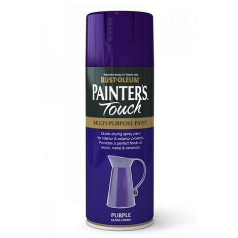 Rust-Oleum AE0040029E8 Painters Touch Purple Gloss Multi Purpose Spray Paint 400ml