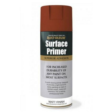 Rust-Oleum AE0040030E8 Surface Primer Matt Red Spray Paint 400ml