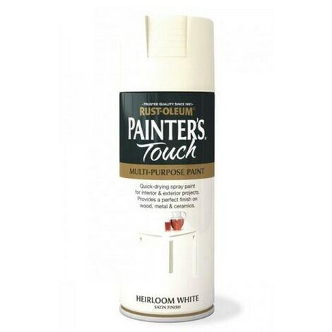 Rust-Oleum AE0050004E8 Painters Touch Heirloom White Satin Multi Purpose Spray Paint 400ml