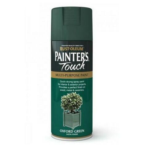 Rust-Oleum AE0050006E8 Painters Touch Oxford Green Satin Multi Purpose Spray Paint 400ml