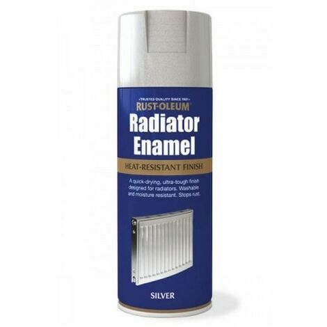 Rust-Oleum AE0060003E8 Radiator Enamel Silver Metallic Spray Paint 400ml