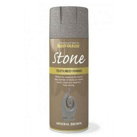 Rust-Oleum AE0070001E8 Textured Stone Effect Mineral Brown Spray Paint 400ml
