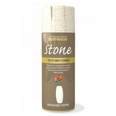 Rust-Oleum AE0070002E8 Textured Stone Effect Bleached Stone Spray Paint 400ml