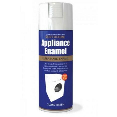 Rust-Oleum AE0090001E8 Appliance Enamel White Gloss Spray Paint 400ml