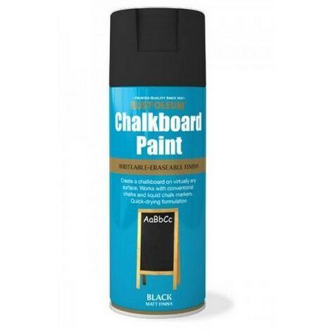 Rust-Oleum AE0100001E8 Chalkboard Black Matt Spray Paint 400ml