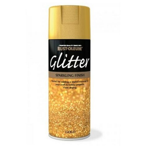 Rust-Oleum AE0210002E8 Glitter Spray Paint Gold Sparkling Finish 400ml