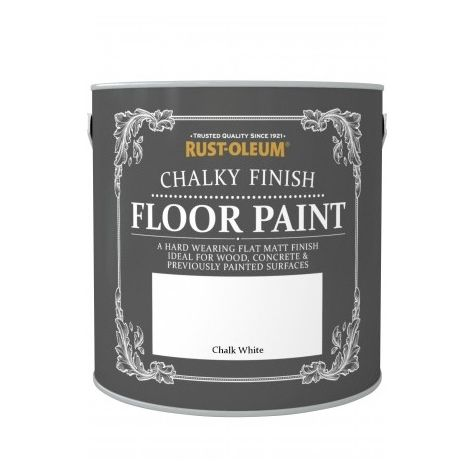 Rust-Oleum Chalk Chalky Floor Paint - Chalk White - 2.5L