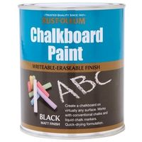 Rust-Oleum Chalkboard Paint - 750ml - Black Matt