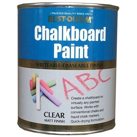 Rust-Oleum Chalkboard Paint - 750ml - Clear Matt