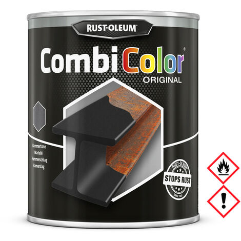Rust-Oleum Combicolor Original Hammerschlag, Schwarz Grundierung 750ml