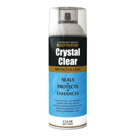 Rust-Oleum Crystal Clear Protective Coat Aerosol - Gloss, Semi Gloss, Matt