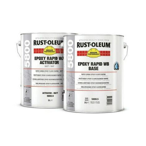 Rust-oleum Epoxy Rapid Water Based Floor Coating White 5LTR