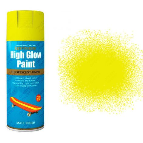 Rust-Oleum Fluorescent High Glow Neon 400ml Red-Orange Yellow