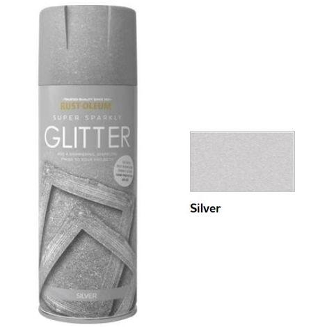 Rust-Oleum Glitter Finish Spray Paint - 400ml - Gold, Silver and Sealer