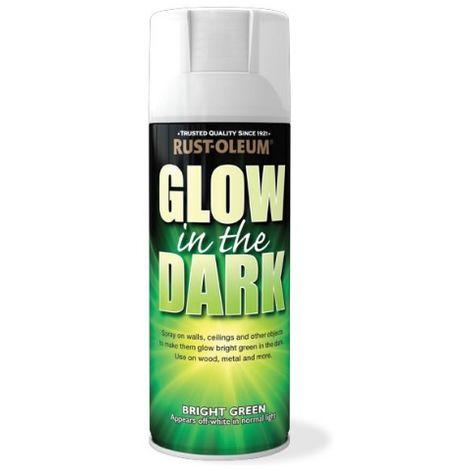 Rust-Oleum Glow in the Dark Green Aerosol Spray Paint - 400ml