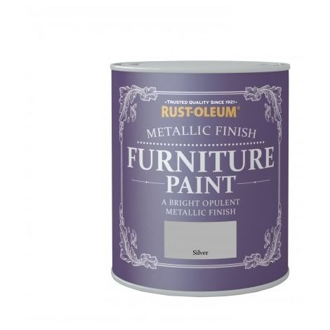 Rust-Oleum Metallic Finish Furniture Paint 750ml / 125ml - Silver & Gold