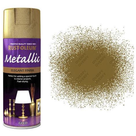 Rust-Oleum Premium 400ml Metallic Bright Gold Silver Copper Chrome Blue Pink