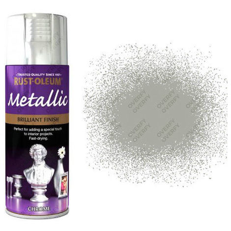 Rust-Oleum Premium 400ml Metallic Bright Gold Silver Copper Chrome Blue Pink