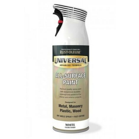 Rust-Oleum Universal 400ml White Black Red Grey Brown Green Blue Orange Gloss & More