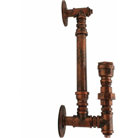Rustic Red E27 Rustic Water Pipe Wall Light Porch Lamp Steampunk