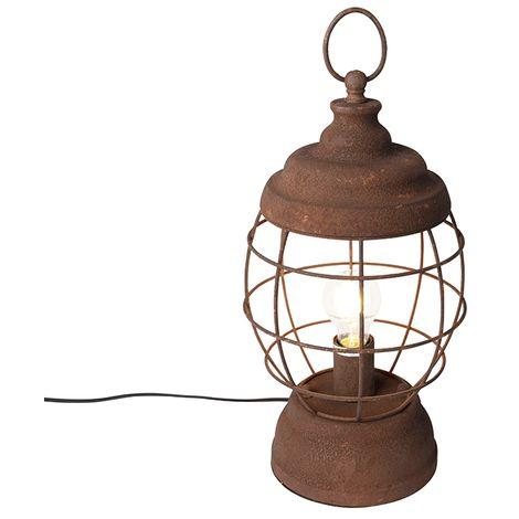 Rustic table lamp rust - Lentera