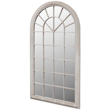 Rustikaler Gartenspiegel Bogen 116 x 60 cm für Innen- und Außenbereich