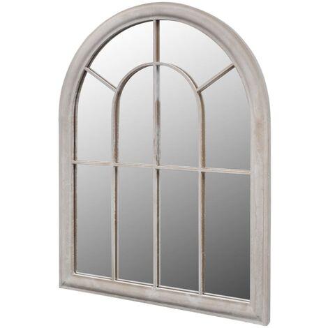 Rustikaler Gartenspiegel Bogen 89 x 69 cm für Innen- und Außenbereich