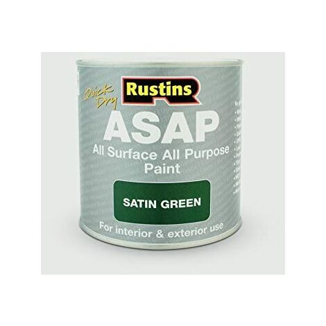 """main image of """"Rustins ASAP All Purpose All Surface Satin Paint Green250ml"""""""