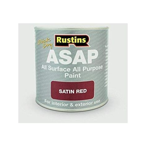 """main image of """"Rustins ASAP All Purpose All Surface Satin Paint Red 250ml"""""""