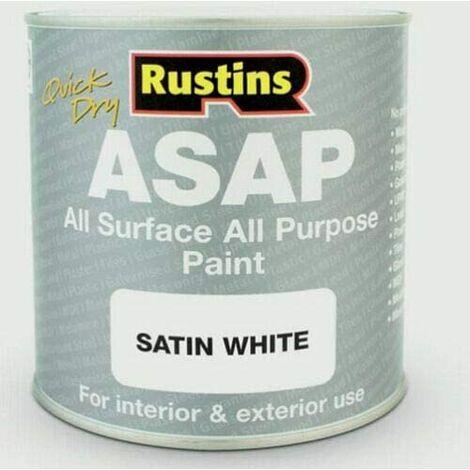 Rustins ASAPWH1000 ASAP Paint White 1L