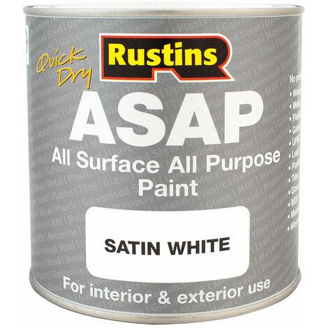Rustins ASAPWH250 ASAP Paint White 250ml