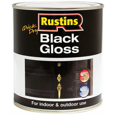 Rustins BLAGW250 Quick Dry Black Gloss 250ml