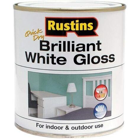 Rustins Gloss Paint Water Based White 500ml
