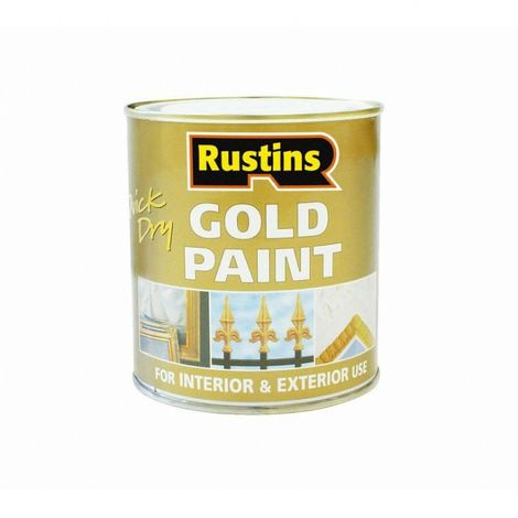 Rustins Gold Paint Quick Dry Can Be Applied To Wood And Metal ALL SIZES