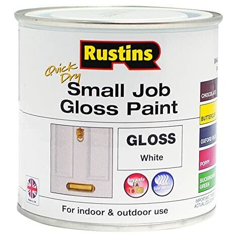 Rustins GPWHW250 QD Small Job White 250ml