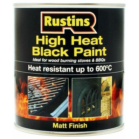 High Heat Paint 600�C Black 500ml RUSH600BP500
